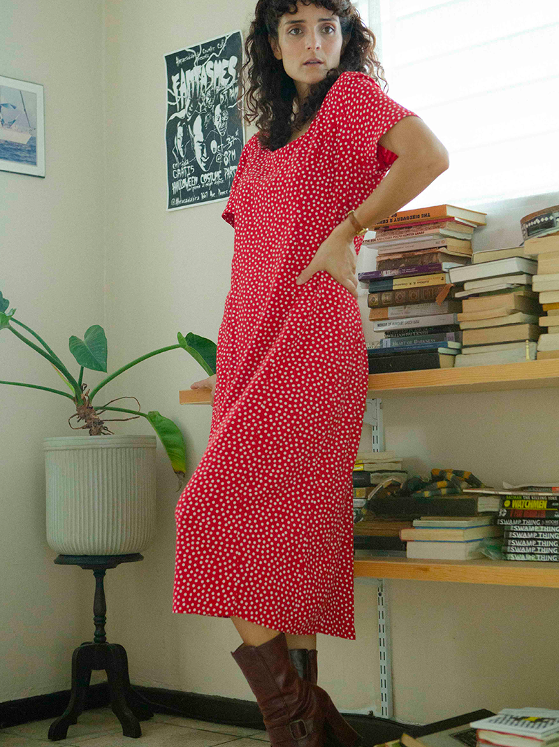 Favorite 1990's red polka-dot dress (Medium)