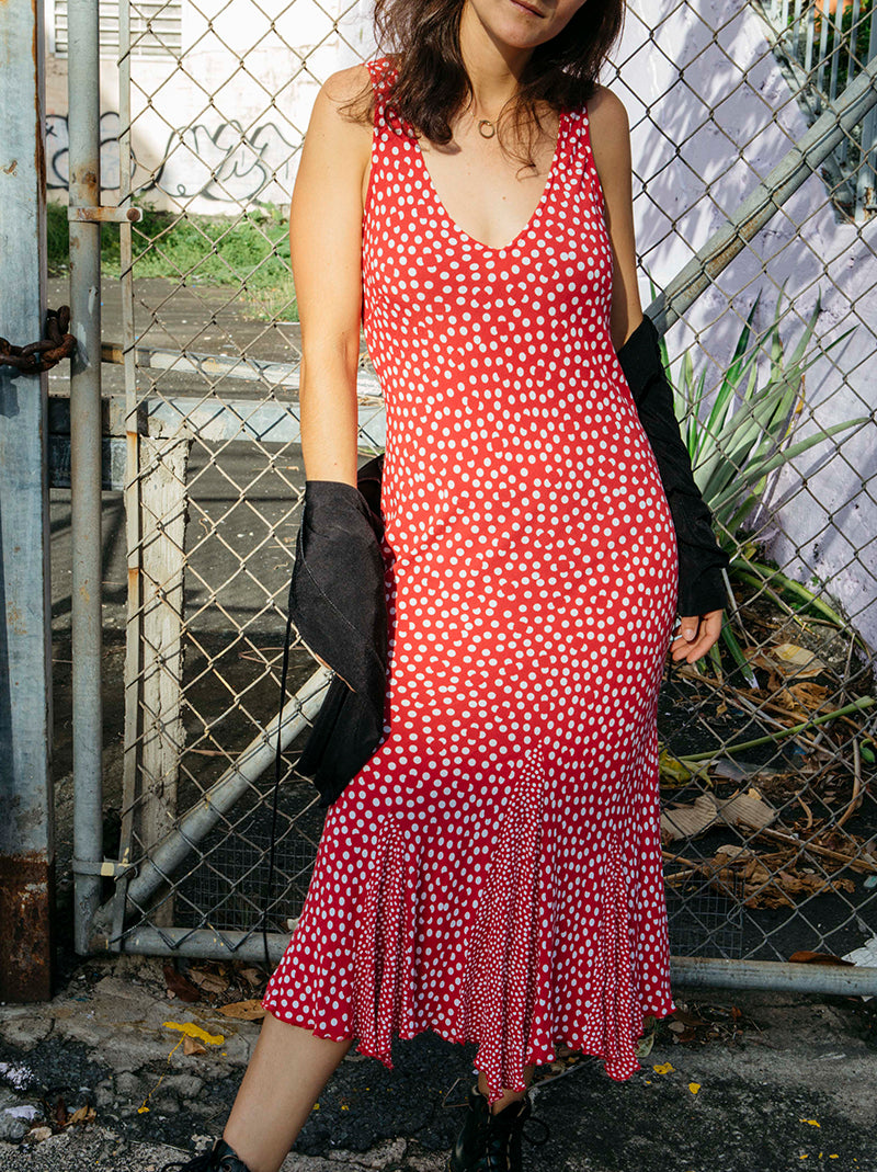 Favorite Vintage Red Polka Dot Dress