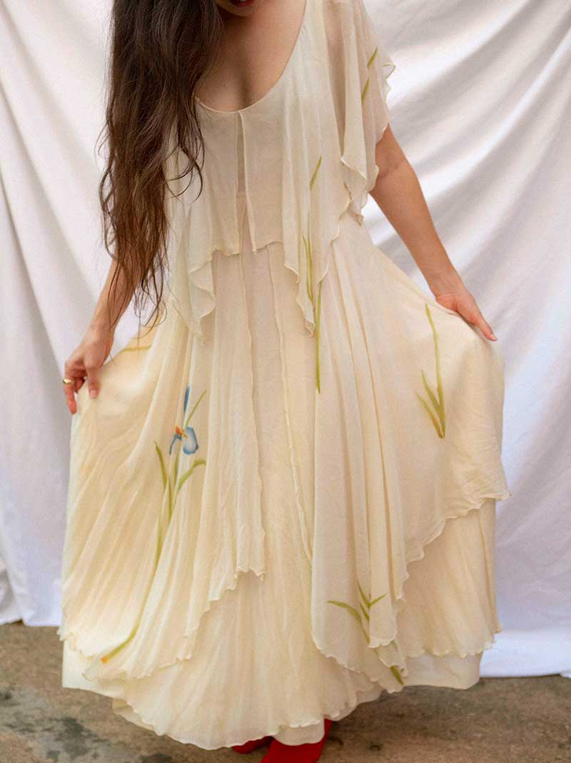 The Stevie Nicks dress with hand painted flowers