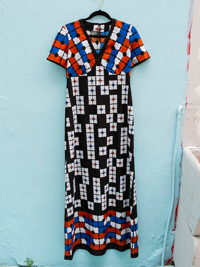Favorite 1970's abstract print dress