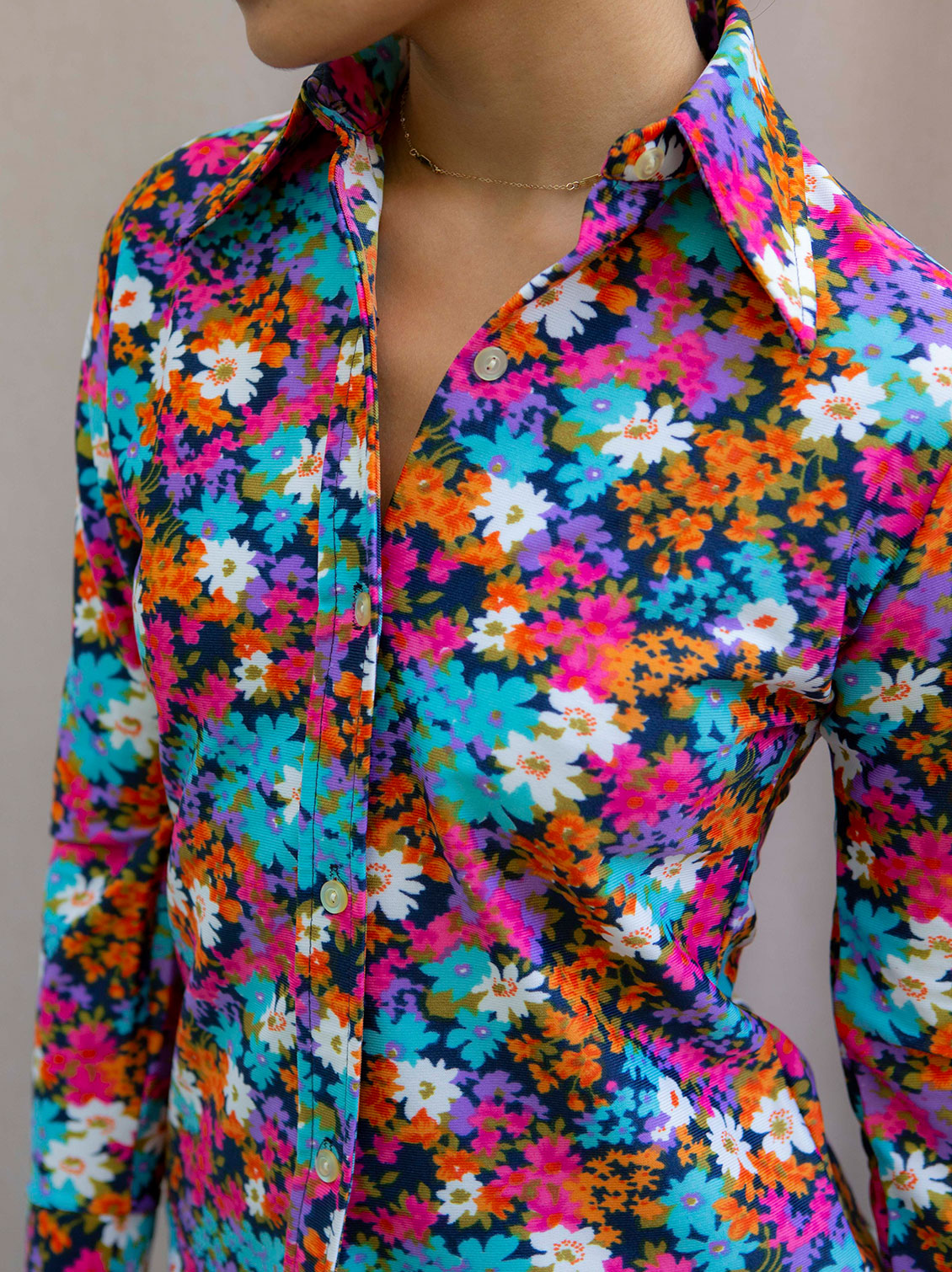 Johnny & June vintage 1970's flower top