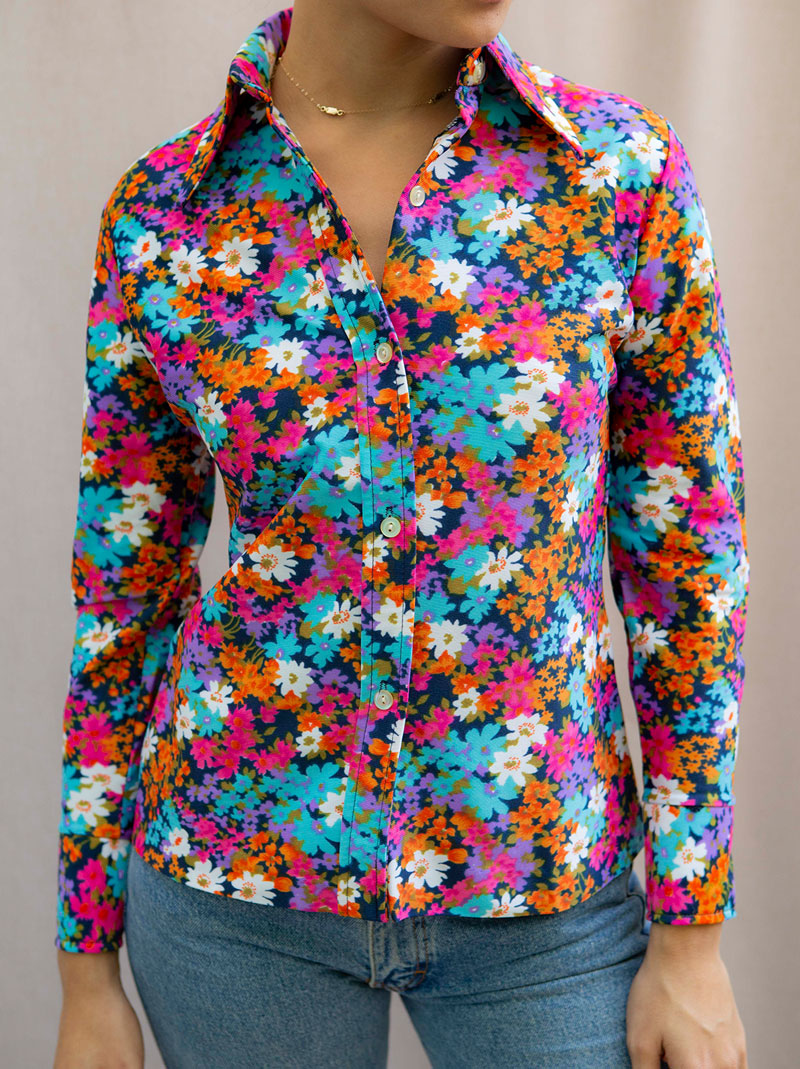 Favorite 1970's flower blouse