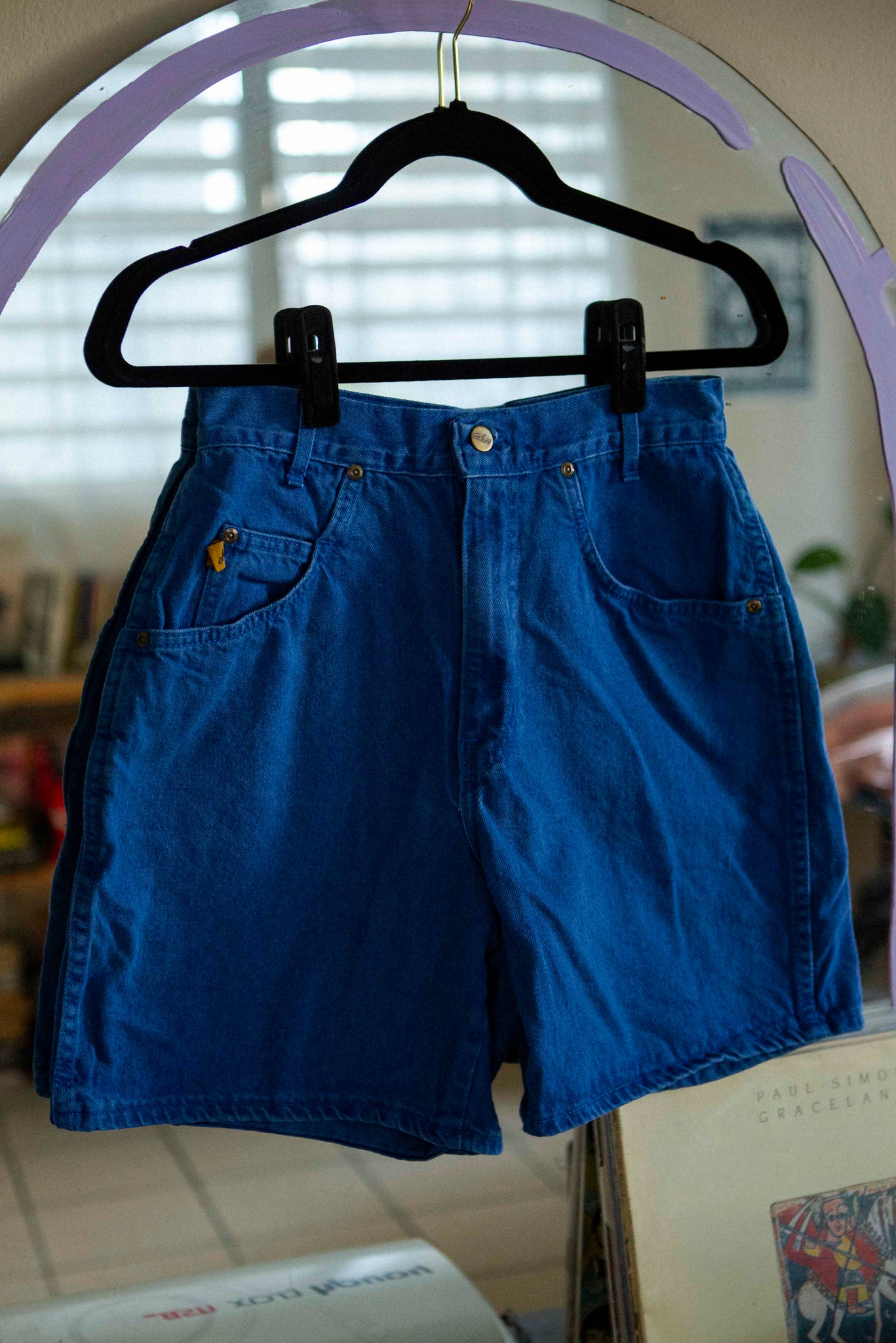 Vintage blue high rise shorts