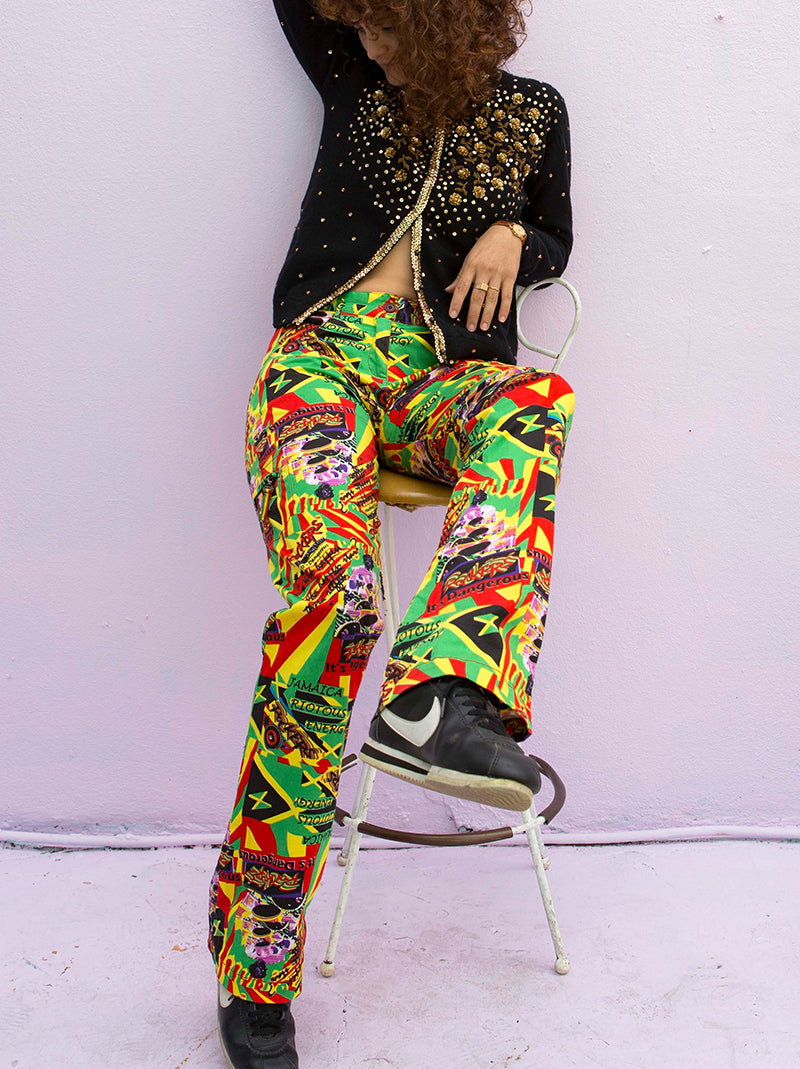 Funky 2000's Jamaican pants