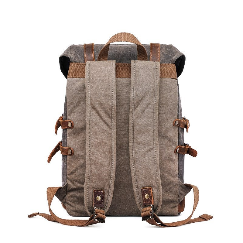 Waxed Retro-Army backpack