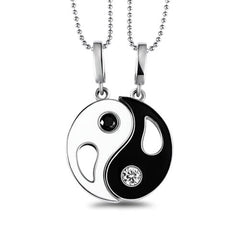 Yin Yang Custom Letter Necklace For Couples
