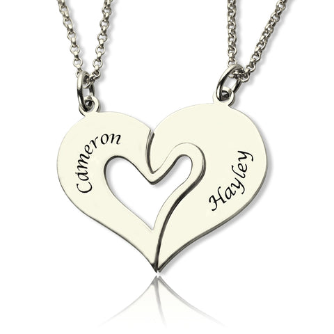 Personalized Heart Necklace For Couples