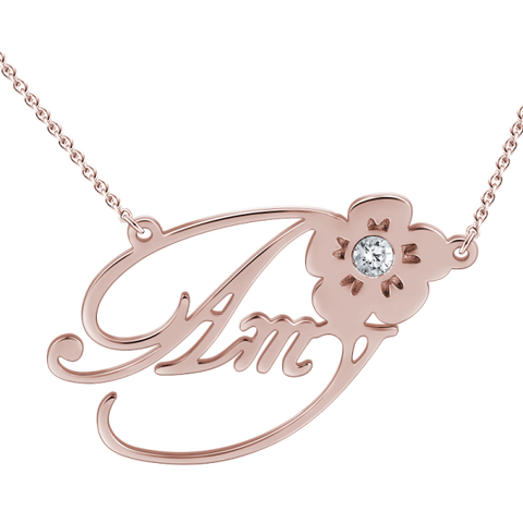 Rose Gold Personalized Necklace