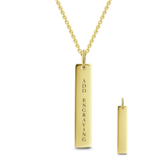 Bar Engraved Necklace