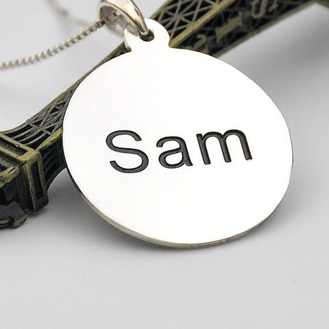 Gold Necklace With Name Engraved