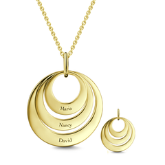 Gold Circle Necklace With Initial