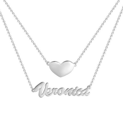 Silver Nameplate Necklace For This Summer