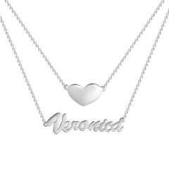 Heart Layers Name Necklace