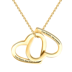 Heart Loop Engraved Necklace