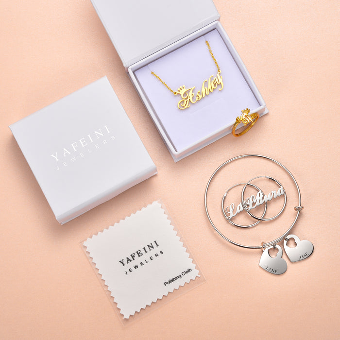 10K/14K Gold Personalized Monogram Earrings