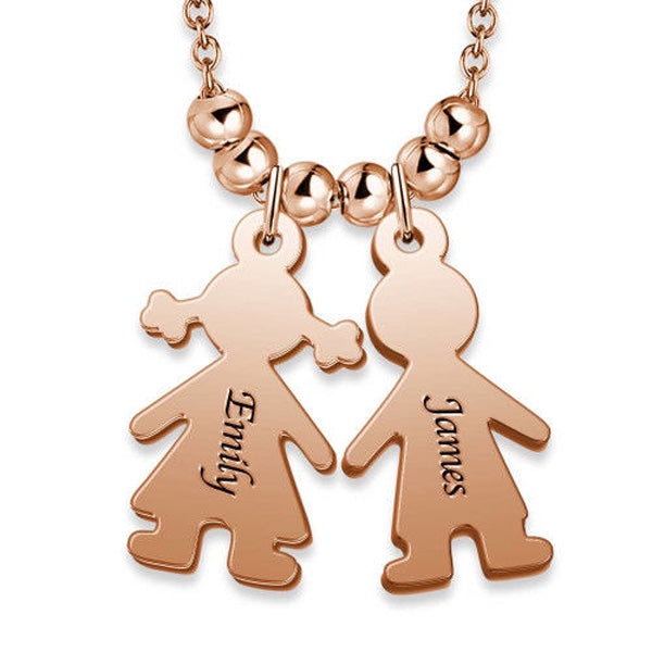 "Children Charms 925 Sterling Silver Personalized Engraved Name Necklaces Adjustable 16""-20"""