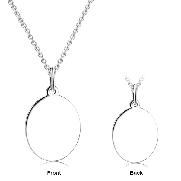 "Love Sweet Love - Personalized 925 Sterling Silver Engraved Art Necklace Adjustable 16""-20"""