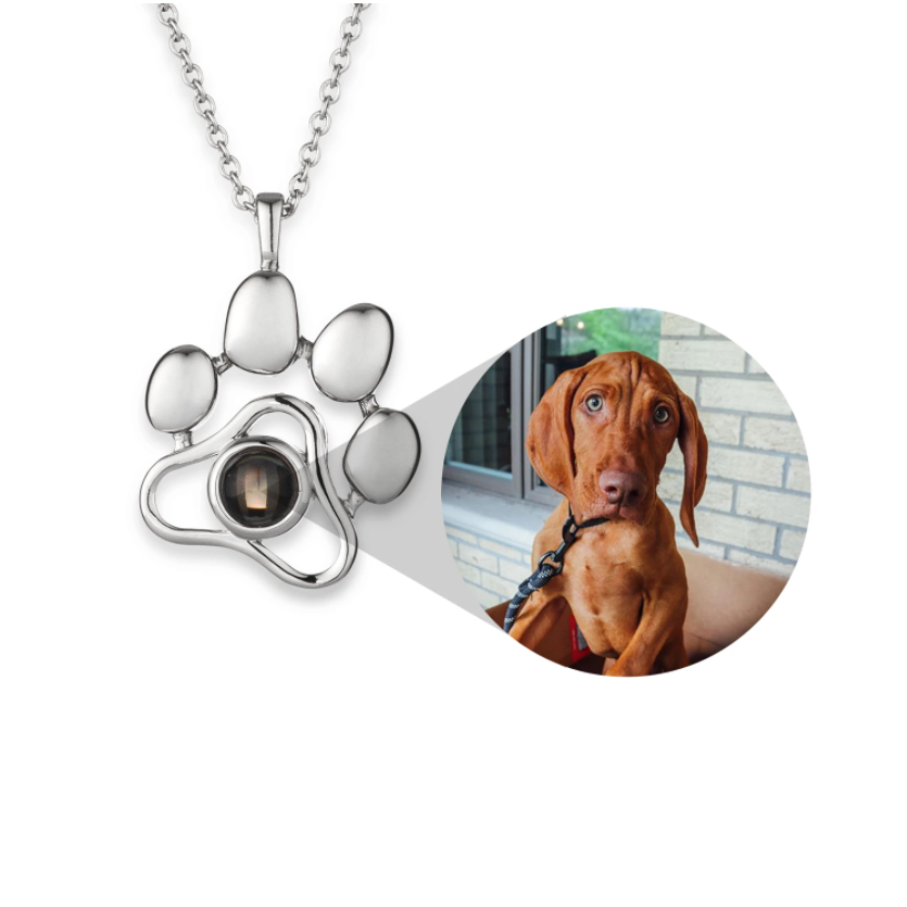 925 Sterling Silver Personalized Pet Photo Necklace Adjustable Chain 16