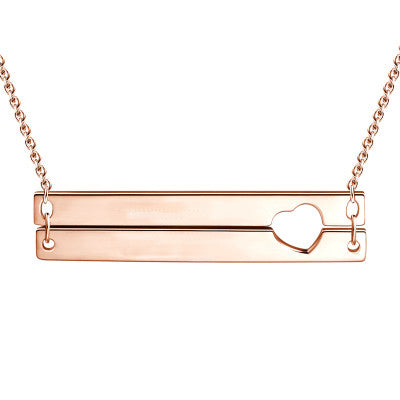 "yafeini Custom Name Necklace Personalized Jewelry Copper 925 Sterling Silver Yellow White Rose Adjustable 16""-20"" - Engraved Bar Necklace - Close To My Heart"
