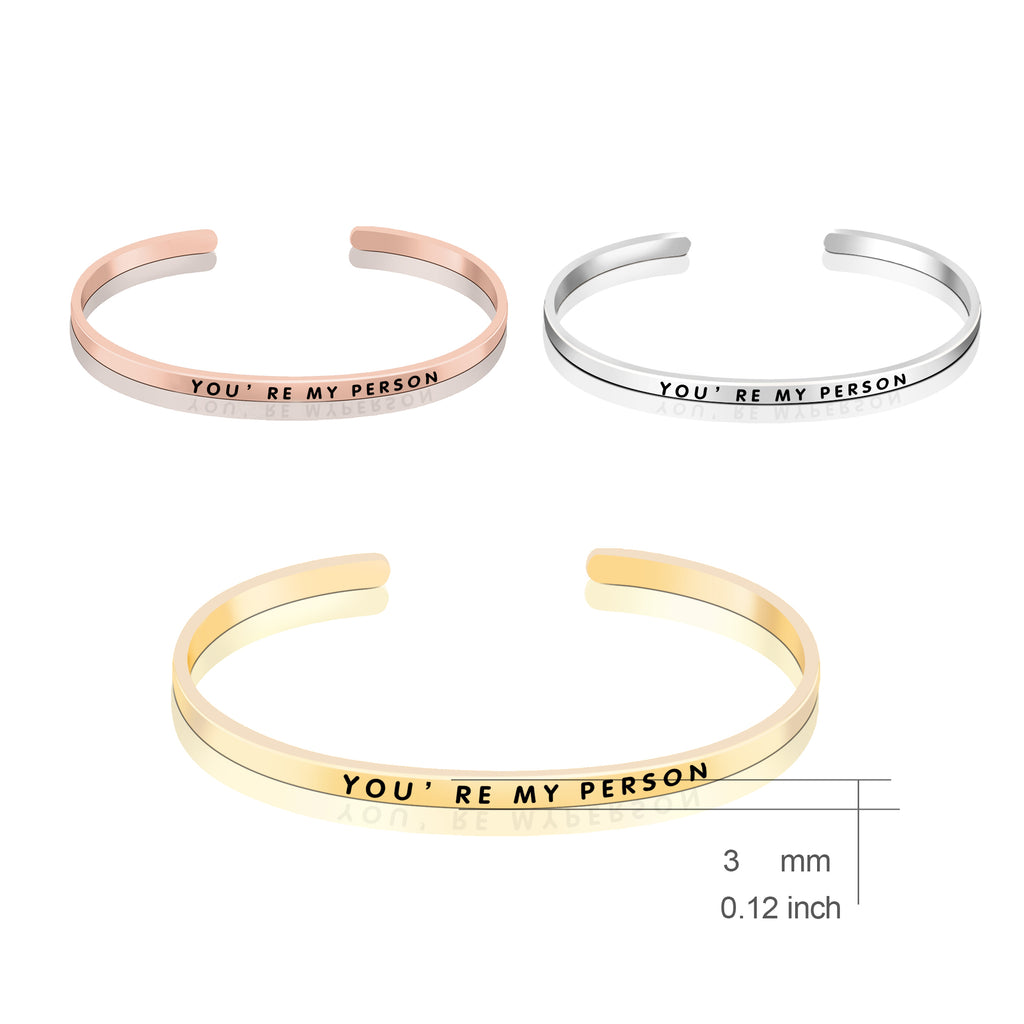 925 Sterling Silver You Are My Reason Bangle Bracelet