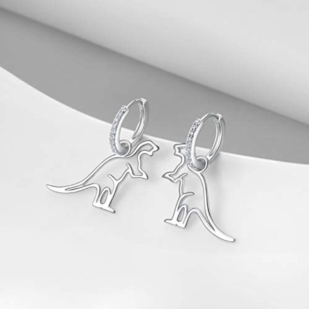 Hoop Earrings Dinosaur Dangle Drop Hypollergenic Cute Earrings Gifts