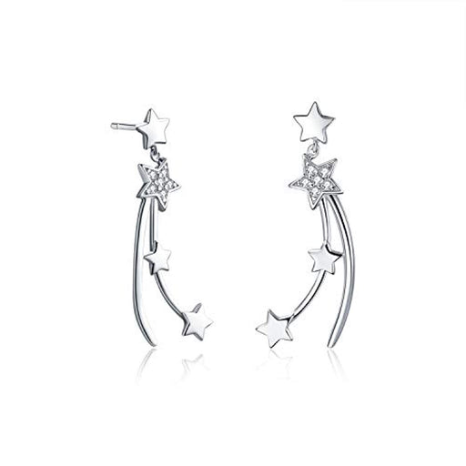 Lucky Star Earrings Dangle Shooting Star Earrings