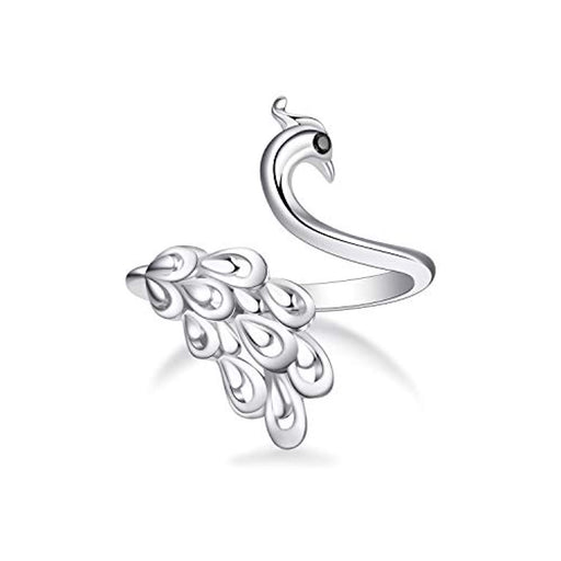 Peacock Finger Rings for Women Ladies Gift Sterling Silver Ring