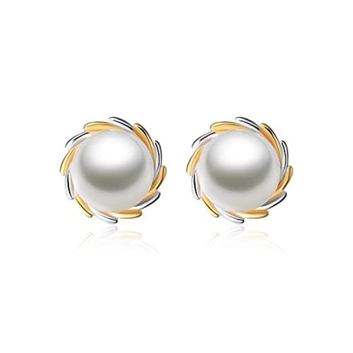 Pearl Earrings Sterling Sliver Pearl Hypoallergenic Earrings