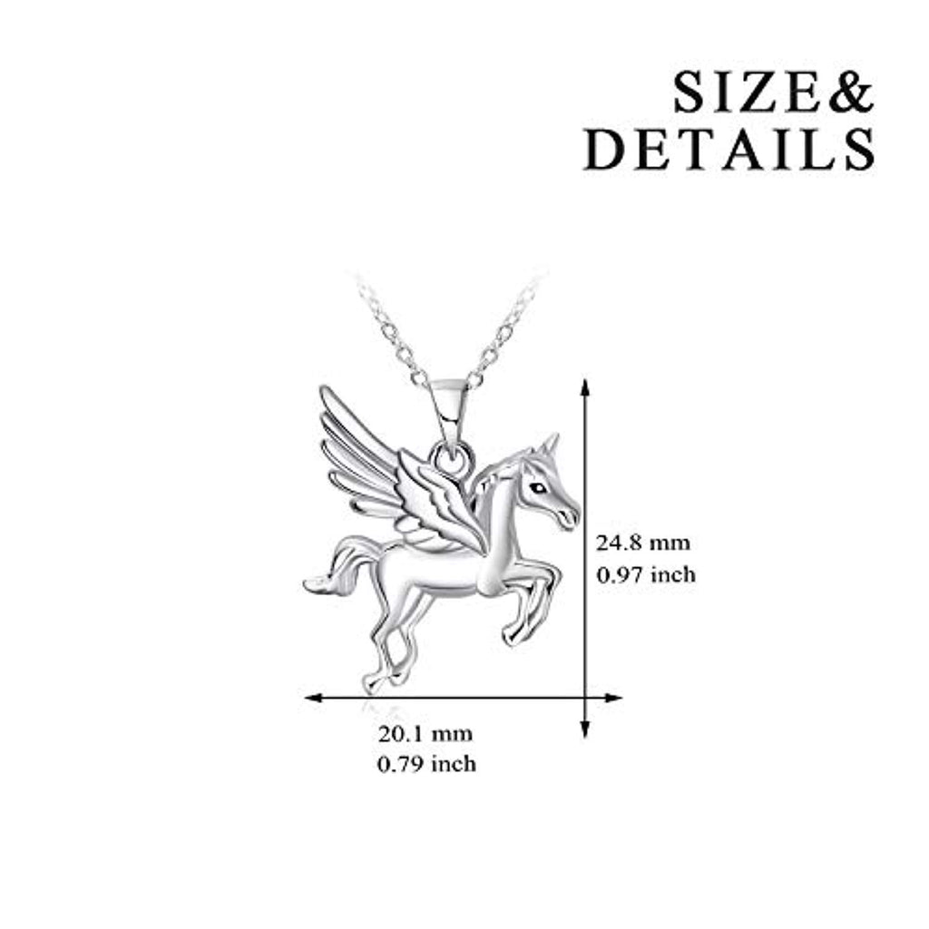 Sterling Silver Unicorn Pendant Necklaces for Women Girls Gifts