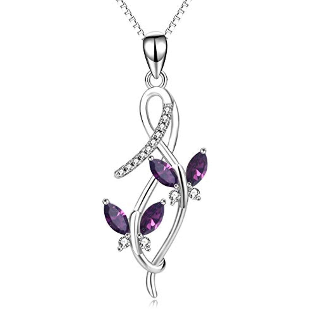 Butterfly Series Necklace Simulated Birthstone Crystal from Crystal