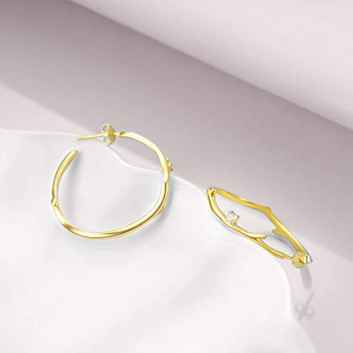 Hoop Earrings Sterling Silver Hoops Cartilage Hypoallergenic Earrings