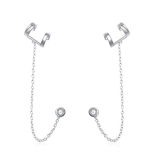 Ear Cuff Wrap Tessal Earrings Sterling Silver Ear Climber Crawler Earrings