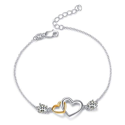 925 Sterling Silver Love Bracelet for Women, heart bracelet Valentine's Day gifts