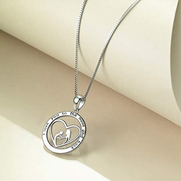 "925 Sterling Silver Infinity Love 18"" Necklace Jewelry for Women, Mother's Day gifts for mother"