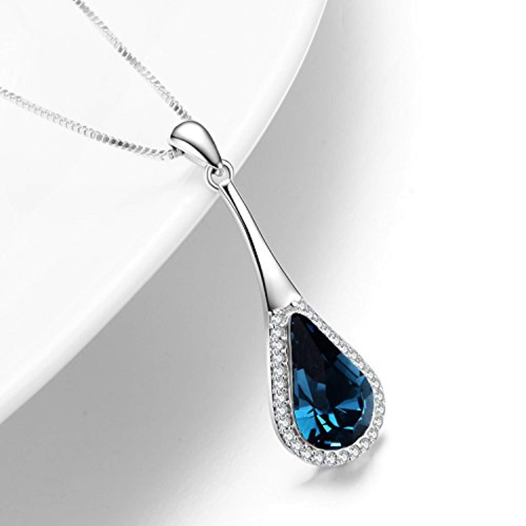Teardrop Necklace with Swarovski Crystals Jewelry for Women