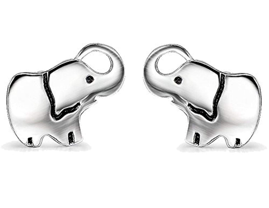 Elephant Earrings 925 Sterling Silver Ear Studs for Women and Girls