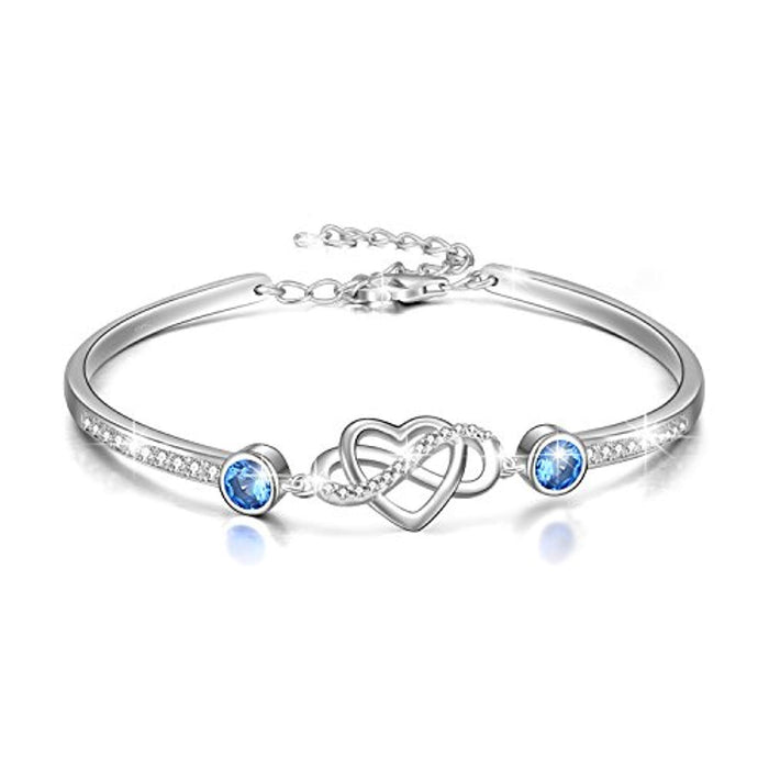 Infinity Endless Love Bracelet - I Love You Forever Series Adjustable 6-8 in Bracelet with Crystals from Swarovski