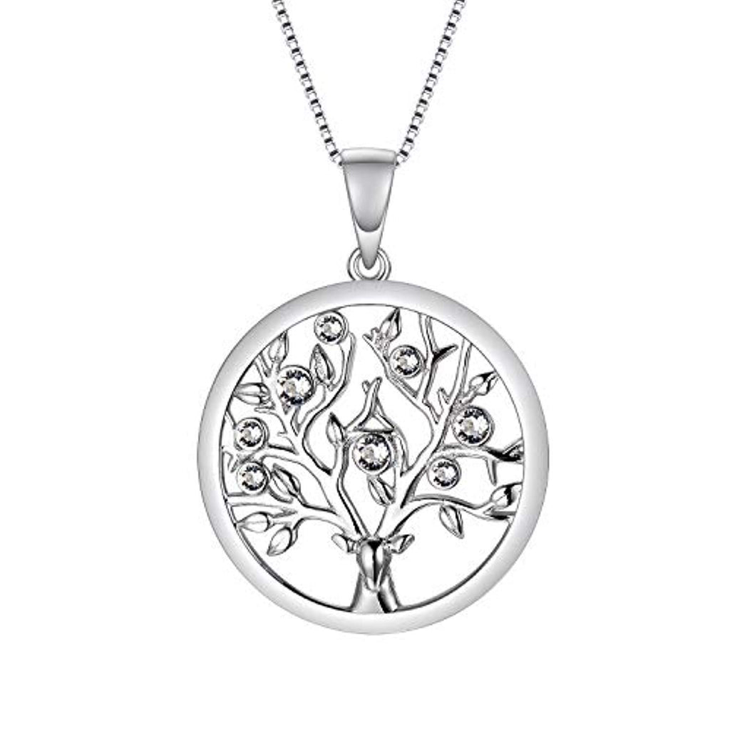 Tree of Life Necklace Family Tree Jewelry Made with Swarovski Crystals Fine Jewelry Gift for Women Teen Girls