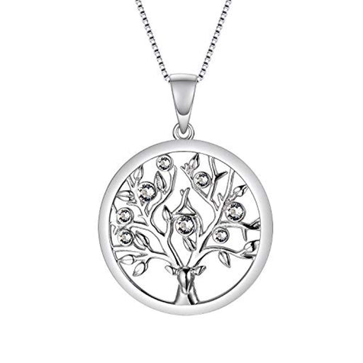Tree of Life Necklace Family Tree Jewelry Made with Crystal Crystals Fine Jewelry Gift for Women Teen Girls