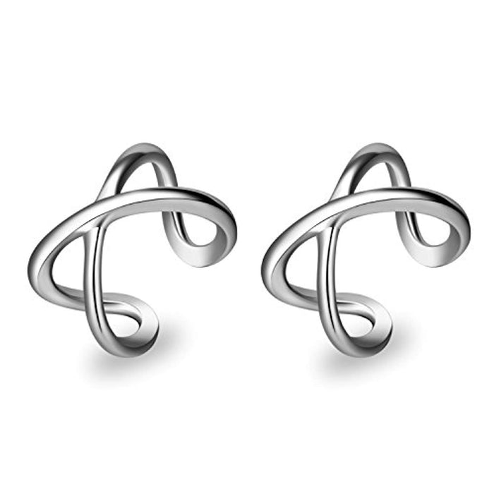 Cuff Earring for Women 925 Sterling Silver Non Pierced Ear Cartilage Clip Earrings for Women Girl