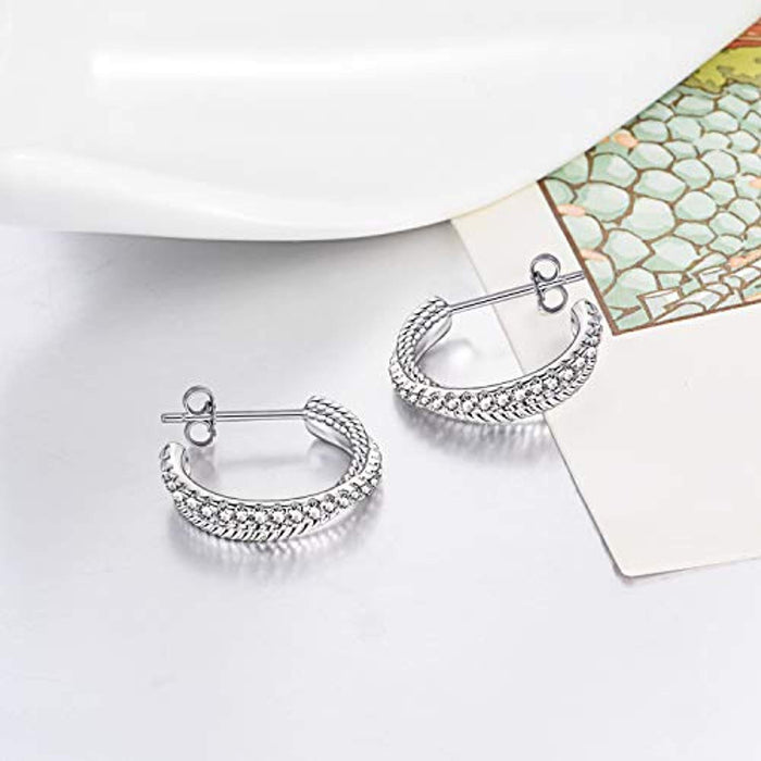 925 Sterling Silver Polished Irish knot Circle Hoop Jewelry