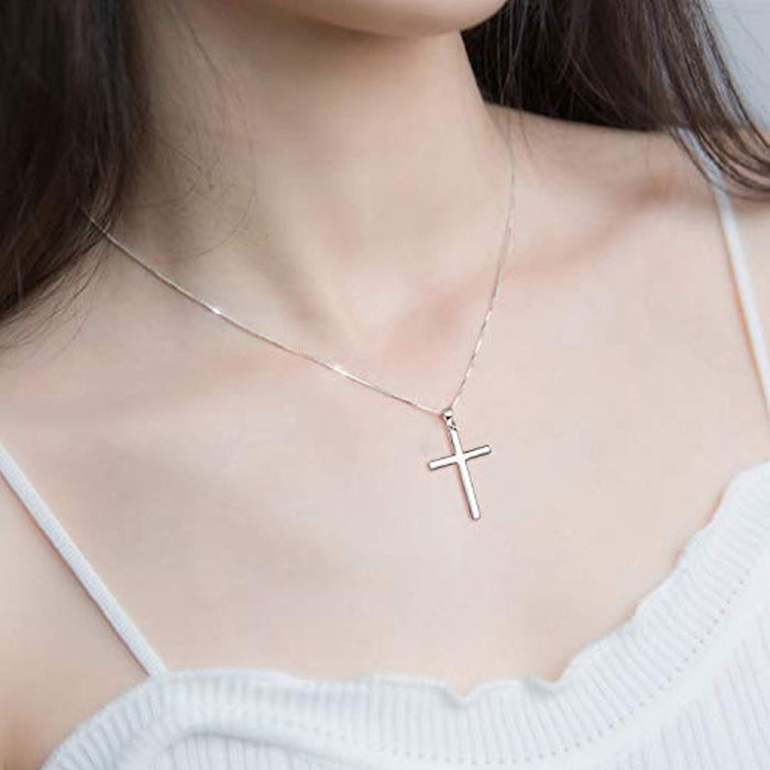 Cross Necklace Sterling Silver Infinity Loop Cubic Zirconia Pendant Nceklace Jewelry Gifts
