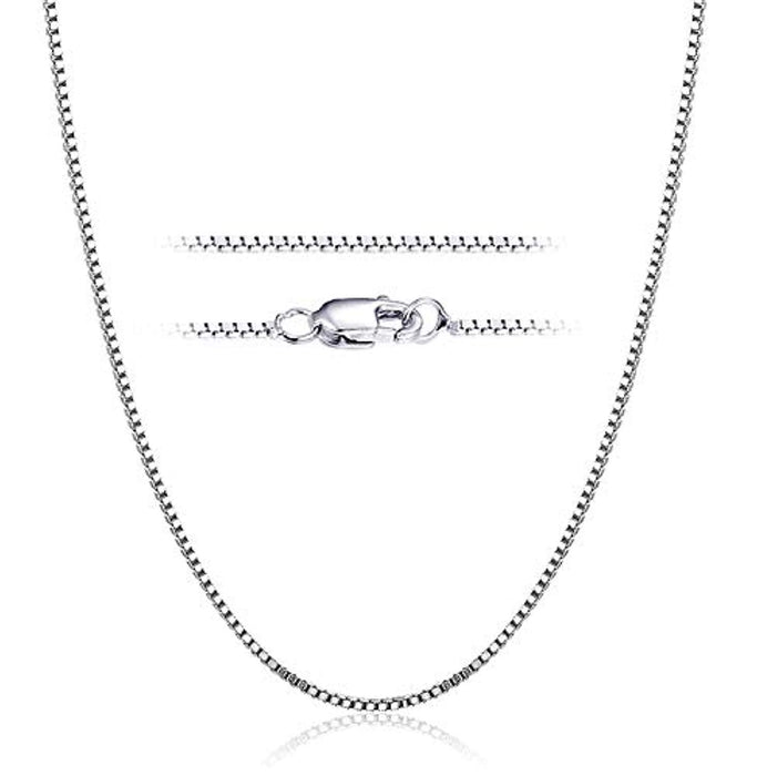 925 Sterling Silver 1 mm Box Chain Necklace