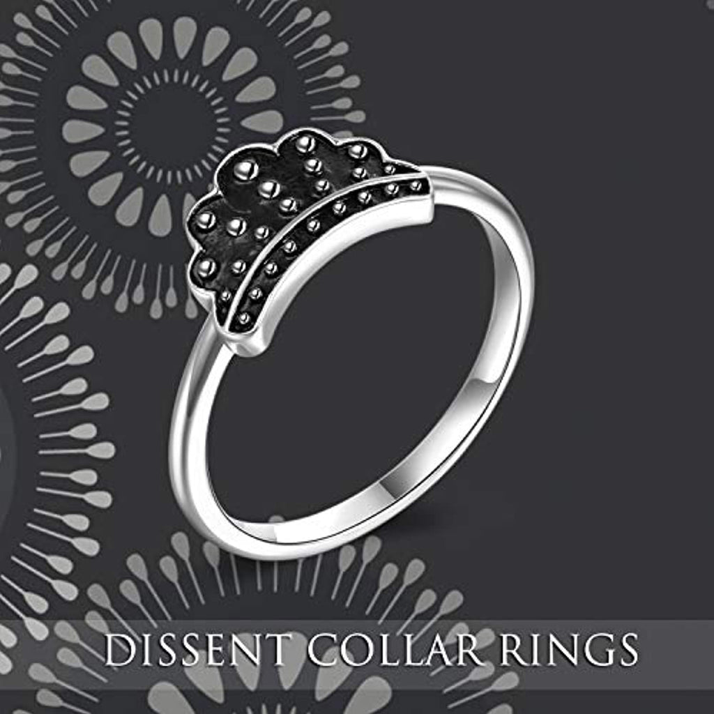 925 Sterling Silver Notorious RBG Dissent Collar Rings for Women Dissent Ring RBG Jewelry Feminist Gifts for Fans of Ruth Bader Ginsburg(Size 6# 7# 8#)