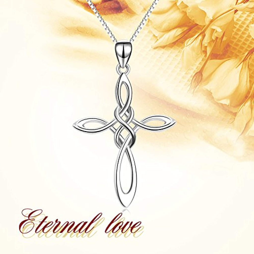 Celtic Knot Cross Necklace Infinity Love Irish Celtics Jewelry