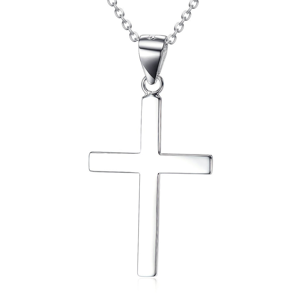 Sterling Silver Infinity Cross Pendant Necklace for Women Girls Boys  18