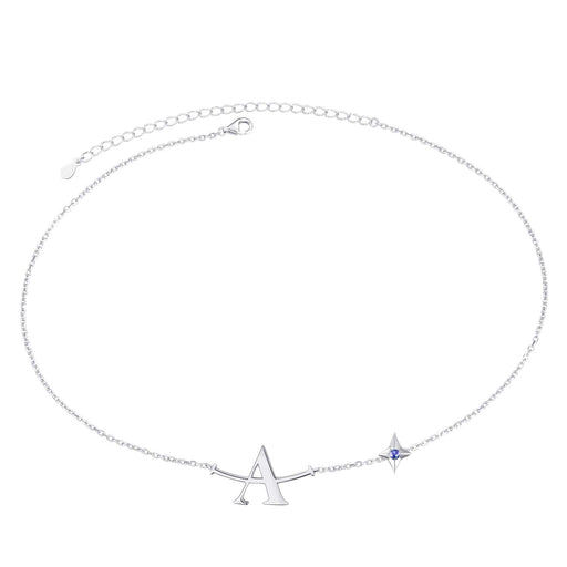 A Plus Initial Bracelects for Women Girls Sterling Silver Choker Star A+ Smile Chains Lucky Charms