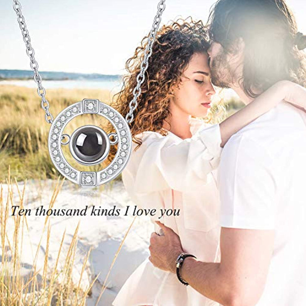 925 Sterling Silver I Love You Necklace 18