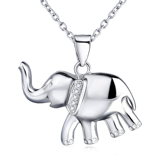 Elephant Pendant Necklace Earrings Bracelet Sterling Silver Ear Studs for Women Girls
