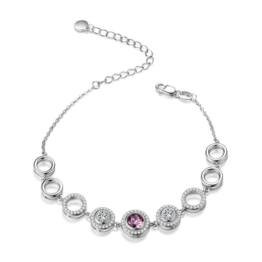 Endless Love Series Bracelet Sterling Silver Adjustable Bracelet